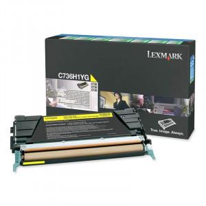 Toner C736 C736H1YG Lexmark Original Com 1 Ano de Garantia – IToner.com.br